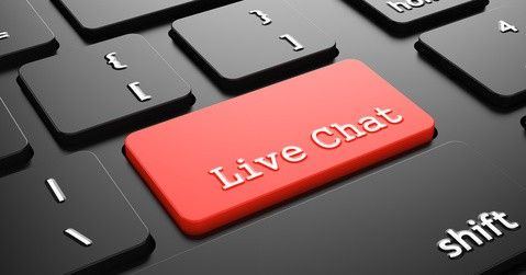 Red Live Chat button