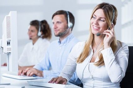 Call Center People Smiling