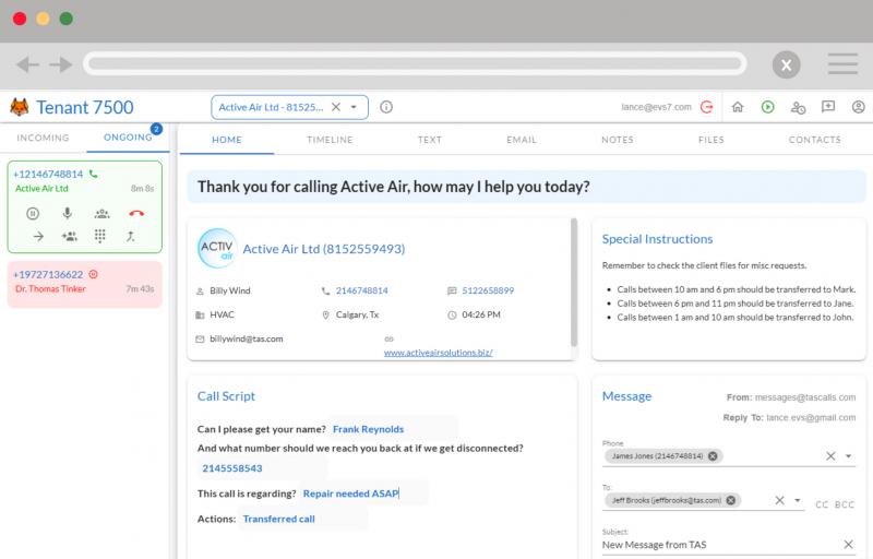 Fox_Answering_Service_Software_Screenshot